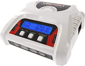 Venom Dual LiPo Charger with Balance Charging | 1S to 4S AC DC Pro Compact Fast LiPo Battery Charger for Airsoft, Drone, and Other LiPo RC Batteries
