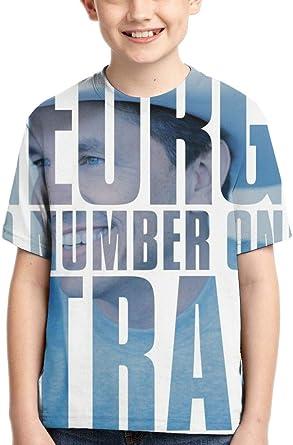CCANE7 Camiseta Divertida Kid's GeorgeStrait 50 Number Ones Camiseta de Manga Corta Impresa en 3D de diseño para niñas y niños