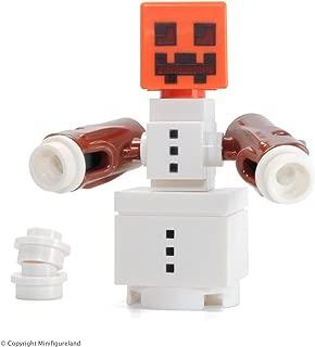 LEGO Minecraft MiniFigure - Snow Golem (Snowman w/ Pumpkin Head)