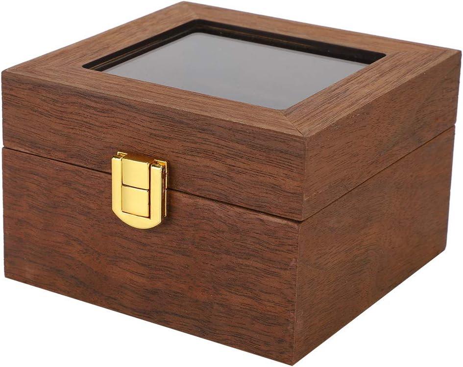 Mesa Mall Bicaquu Black Walnut Color Wooden Case Watch Max 82% OFF Display Clam