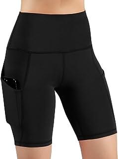 High Waist Out Pocket Yoga Short Tummy Control Workout...