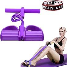 FIVE BEE Upgrade 4 لوله تمرینی چند منظوره ساق پا   نشستن بدن سازی Expander   تجهیزات آموزش طناب دار کشش الاستیک   باند مقاومت پدال   رنگ بنفش