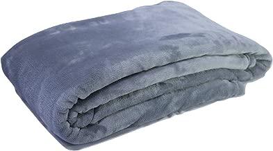 Luxury King Size Flannel Fleece Blanket, Charcoal Gray (Grey)