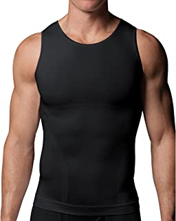 Zoned Performance Seamless Nylon Mens Tank for Firm Chest, Stomach & Back Control to Improve Posture with Breatheasy Zones 602 - Available in Various Colours