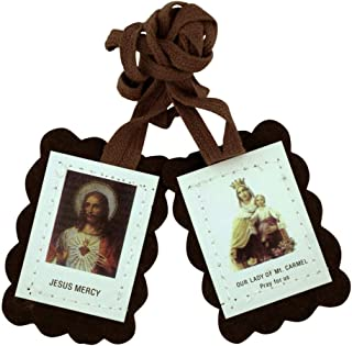 VILLAGE GIFT IMPORTERS Assorted Economy Scapulars | 100% Cloth Wool | 14 Different Scapular Necklaces | Affordable and Authentic | Christian Jewelry