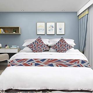 Jnseff Sleek Minimalist Microfiber Deerskin Bedding Flag Country Flag Retro Vintage Design 3D HD Digital Printing Bed Runner Bedspread Bed Scarf Bed Flag Mattress Decor