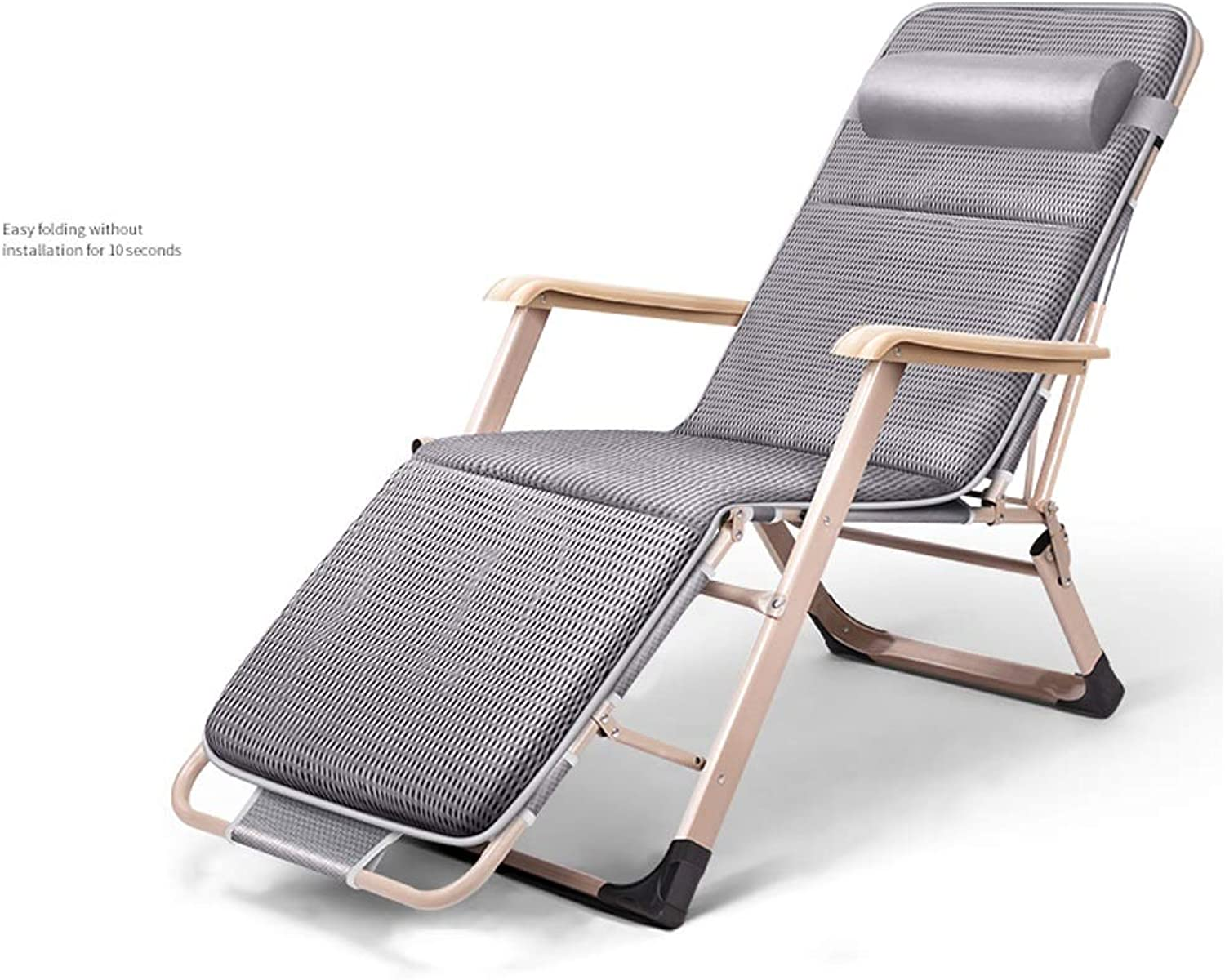 Single Outdoor Recliner, Simple Portable Folding Bed, Accompanying Bed