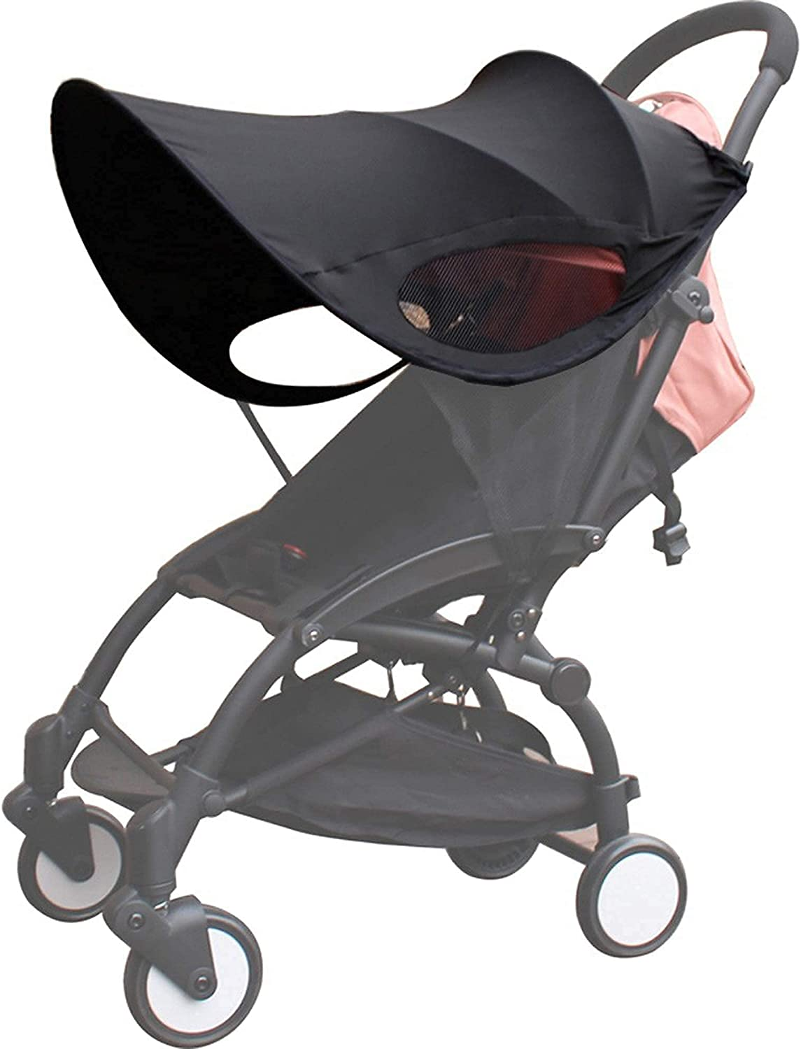 Ridecle Infant Toddler Sun Cover, Baby Stroller Sun Shade, Stroller Sun Cover, Universal Awning with Adjustable Strap, Anti-UV Protection Safety Cart Accessories for Baby