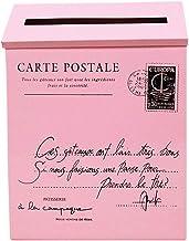 Amuzocity Vintage gegalvaniseerde brievenbus - Roze
