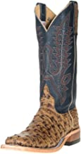 Anderson Bean Womens Ladies Terra Vintage Full Quill Ostrich with Navy Top Cowgirl Boots