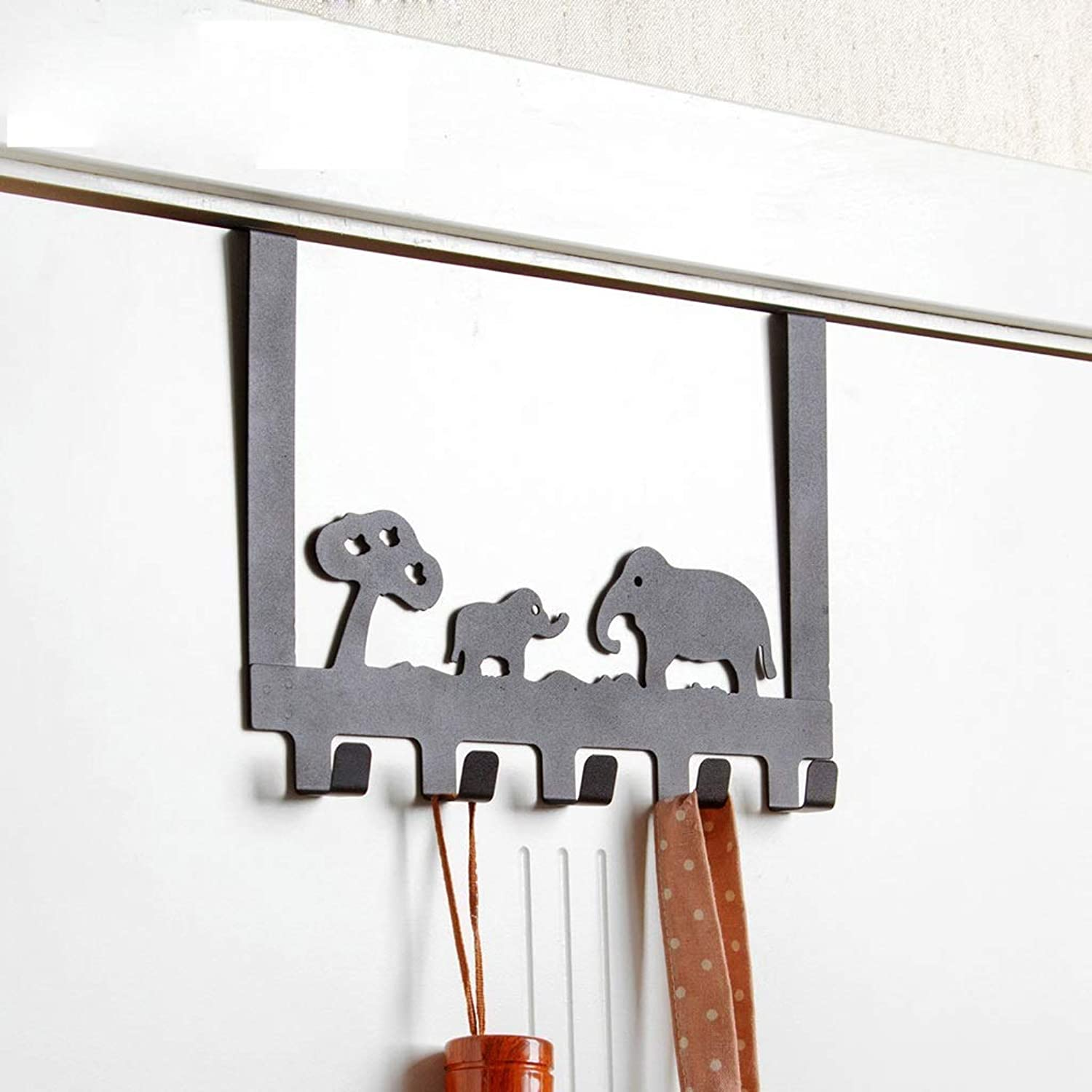 XUYRENP Modern Minimalist Hook Cartoon Wrought Iron Hook Home Decoration Creative Door Back Coat Hook