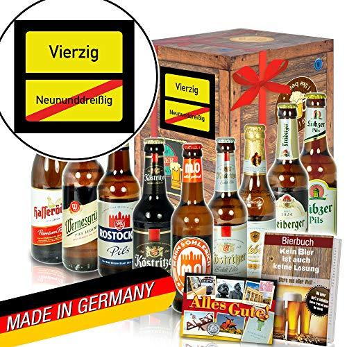 Ortsschild 40 ++ Geschenke zum 40. Geburtstag Schokolade ++ Bier aus DDR