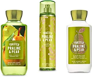 Toasted Praline & Pear - Daily Trio Gift Set Full Size - Shower Gel, Fine Fragrance Mist and Super Smooth Body Lotion – (2019 Edition)