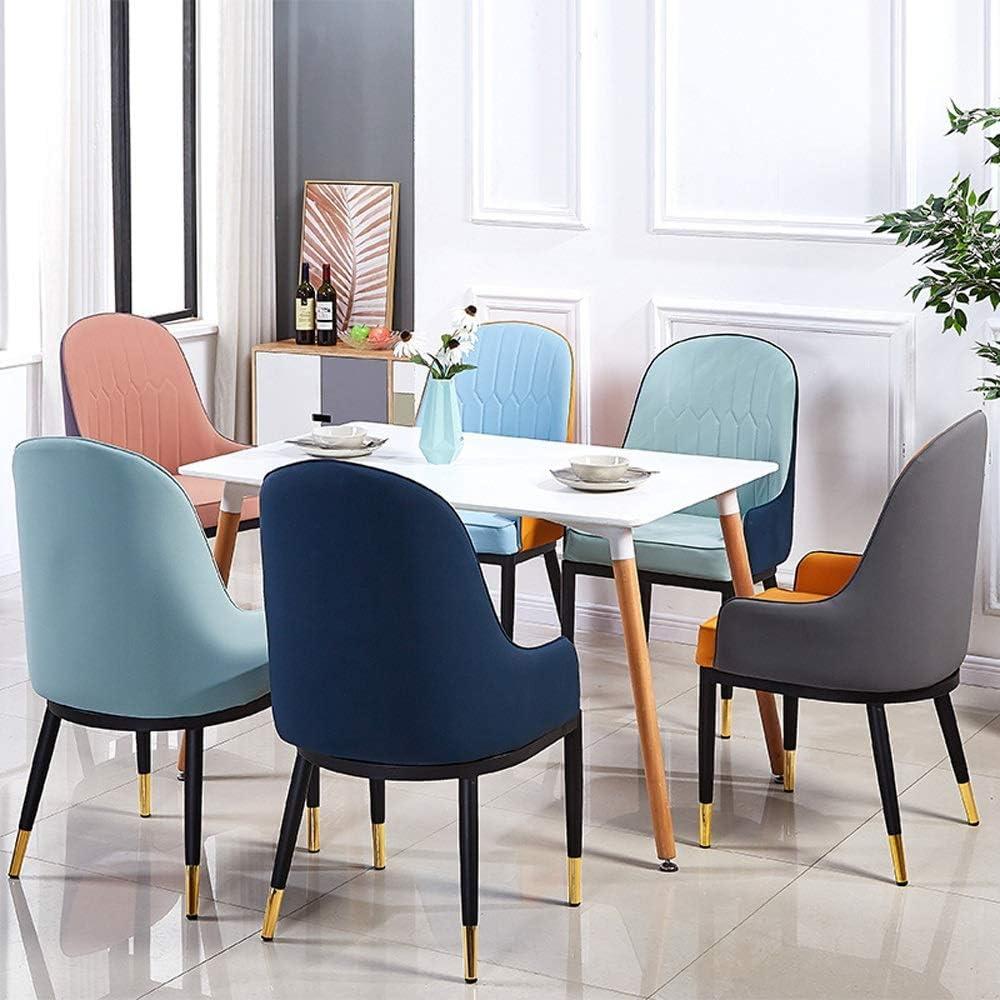 Chaise de salle, Fauteuil en cuir Rembourrage Salon Salon Cuisine Chaise Intérieur Décoration Chaise de réception (Color : White) Yellow