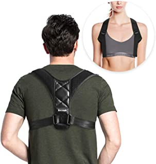 Posture Corrector for Women and Men Upright Straightener Chest Support Upper Back Brace for Clavicle Support and Providing Pain Relief fromNeck, Back and Shoulder,Girdle for Back