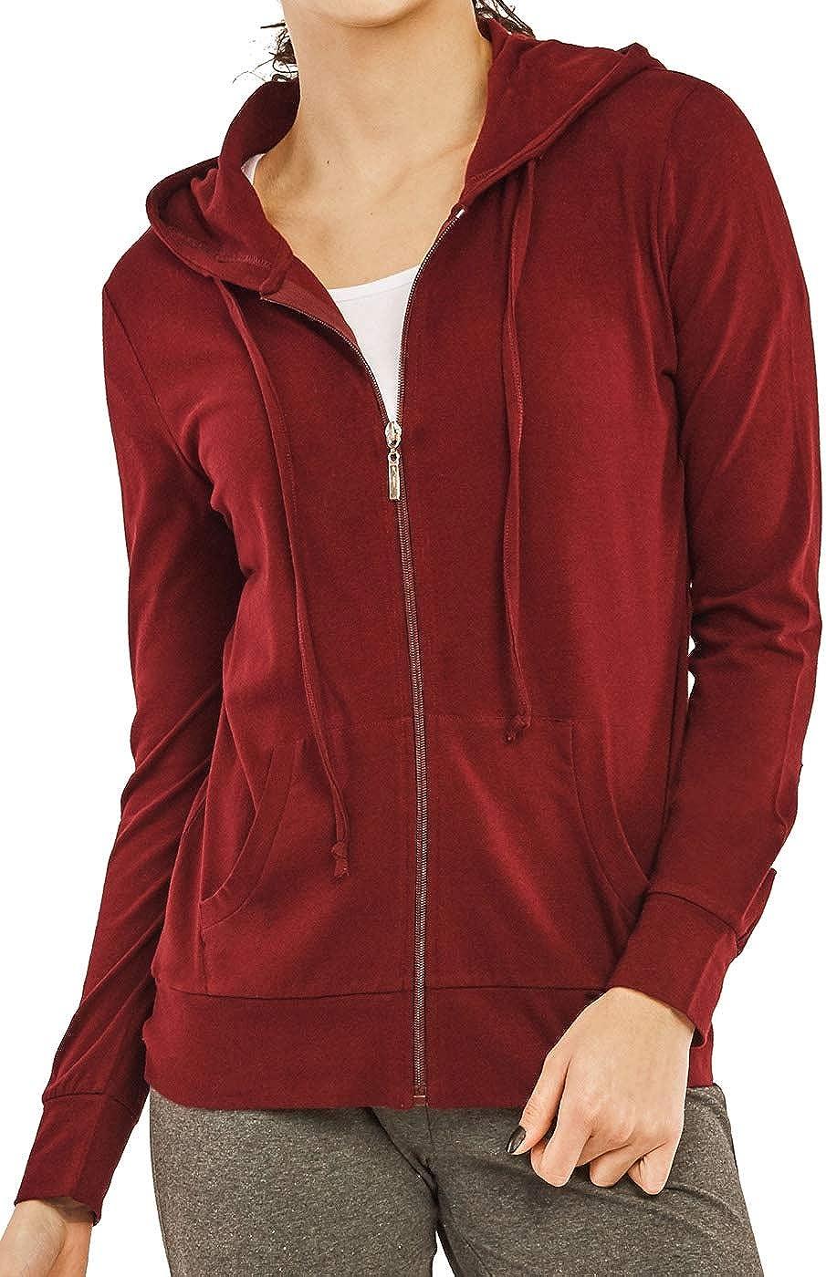 Women's Thin Lightweight Cotton Long Sleeve Hoodie