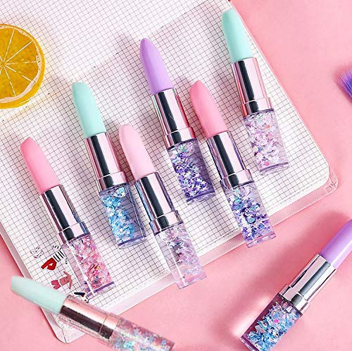 PARTEET New Plastic Cute Lipstick Gel Pen - for Birthday Return Gifts for Kids(Pack of 8Pc)(Assorted)(Made in India)