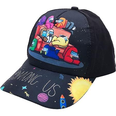 Tomicy Gorra de béisbol Infantil, Among Us Niños Gorra Visera Plana,Cool Moda Sombrero de Sol Al Aire Libre, Ajustable Unisex Sombrero Deportivo Cap Casual