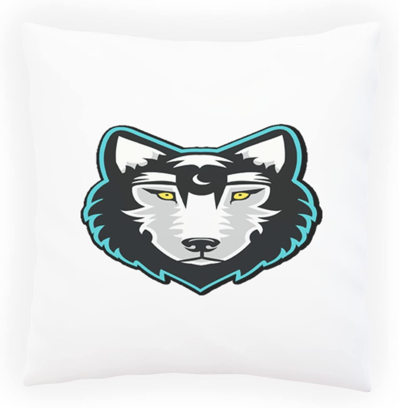 New Illustrated Wolf Background Decorative Pillow Cushion Cover With Insert Or Without H942p Amazon Co Uk Kitchen Home