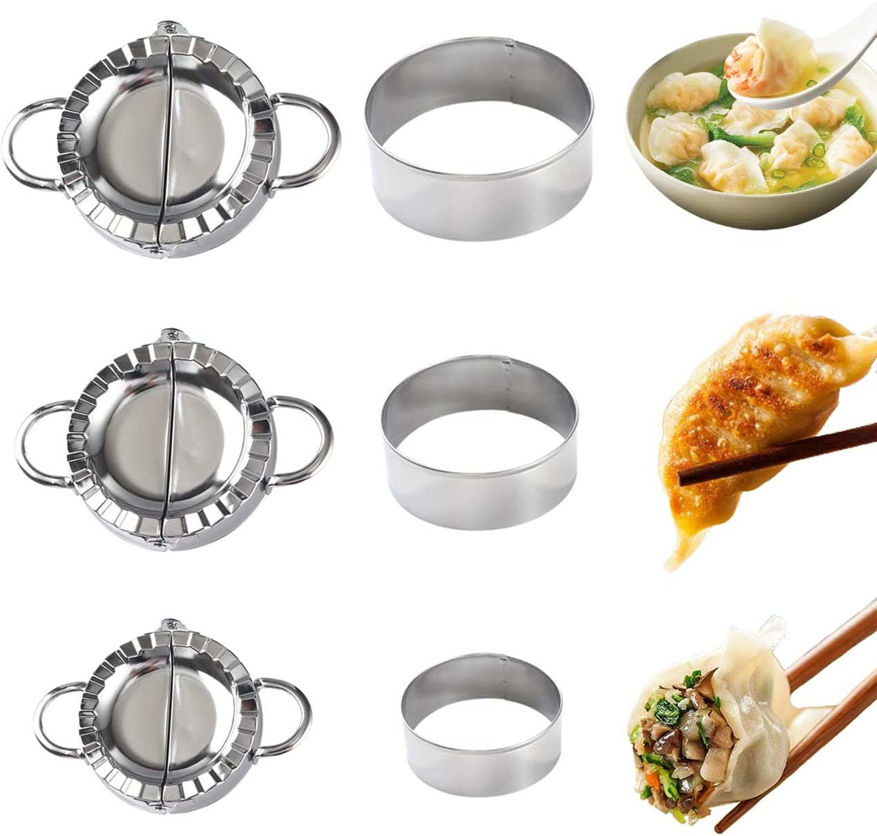 6 Packs Dumplings Maker Molds 3 Shipping included Stainless Steel Empanada Special price for a limited time Press