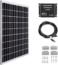 MEGSUN 100W 12V Solar Panel Kit-100W Solar Panel + 10A LCD Light Charge Controller + 3m Adapter Cable + Mounting Brackets