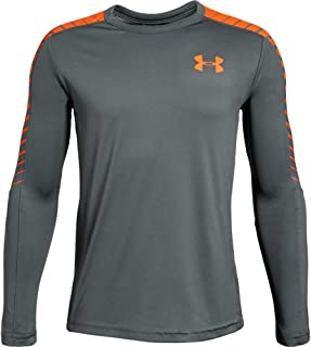 orange long sleeve under armour shirt
