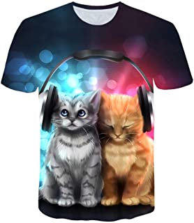 RKWEI Camiseta para hombre, diseño de cuernos 3D