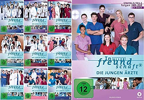 In aller Freundschaft - Die jungen Ärzte - Staffel 1.1 - 5.2 (Folgen 1-210) im Set - Deutsche Originalware [70 DVD]