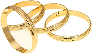 24k Gold Color Dubai Ethiopian Arabic African Bracelets Bangles Wedding Bridal Jewelry