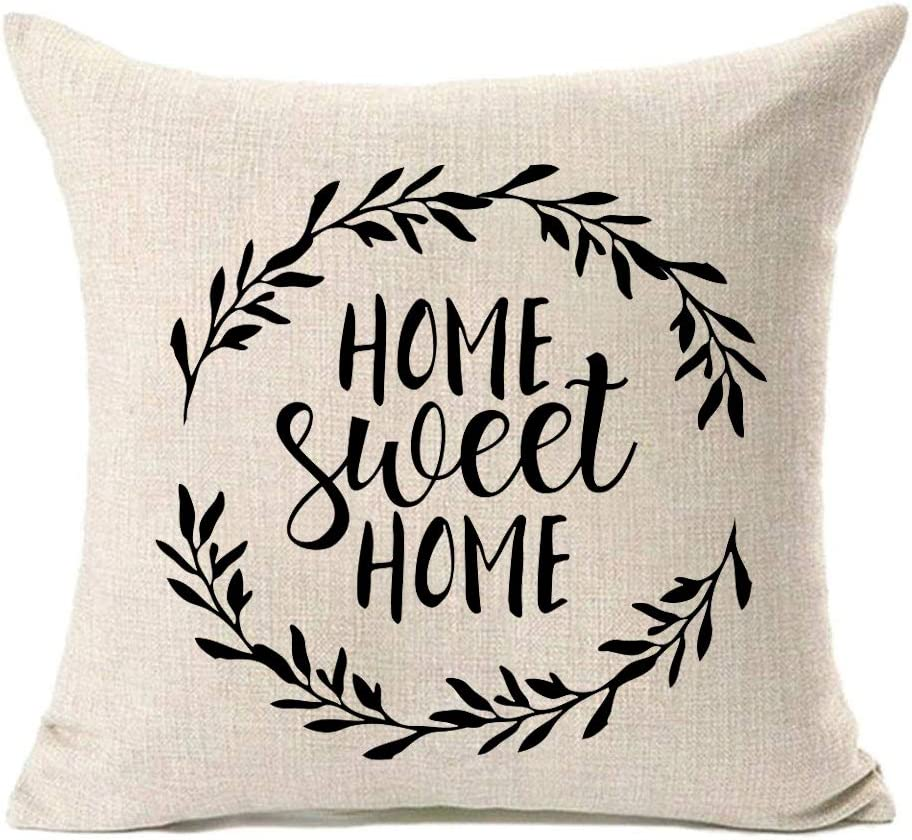 MFGNEH Home Brand Cheap Sale Venue Sweet Rare Quotes with Farmhouse Pillow Cove Garland