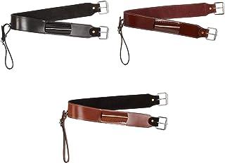 CHALLENGER Horse Western Riding Tack Black Nylon Fur Padded Roper Cinch Brown 9784BR