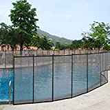 vengaconmigo Barrière de Sécurité pour Piscine Barrière de Protection avec Tuyau en Aluminium et Pieds en Acier Inoxydable Dimension : 366 x 122 cm