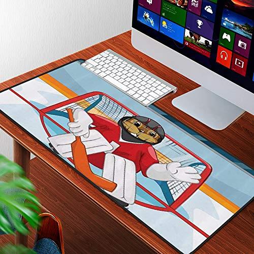 Luoquan Alfombrilla Raton Grande Gaming Mouse Pad,Dibujos Animados Little Hamster ski Modern,Lavable, Antideslizante Diseñada para Gamers, Trabajo de Oficina