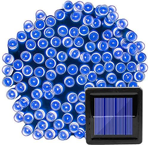 Hogar & Jardín Baja tensión impermeable al aire libre llevó luces solares, luces de cadena luces intermitentes Luces de la secuencia, la iluminación de Navidad Decoración-Ocho de función Solar_Color 5