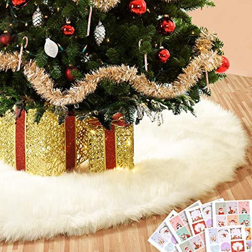 Joyjoz Gonna Grande Albero di Natale da 122cm con 48 Adesivi per Etichette Natalizie, Decorazioni per Alberi di Natale Decorazioni per Alberi di Natale (Adatta per Albero di Natale da 1,8 m)