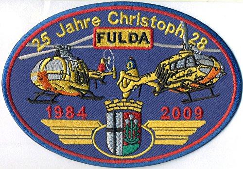 Patch 25 Jahre Christoph Fulda Helikopter Luftrettung ADAC Hubschrauber Aufnäher Abzeichen