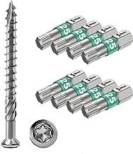 Terrasschroeven 5 x 60 T-INOX 4000 stuks roestvrij staal gehard C1, Torx 25, incl. 8x Wera roestvrijstalen bit