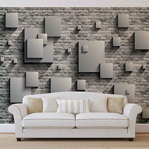 FORWALL Quadratfeld Wand Fototapete - Tapete - Fotomural - Mural Wandbild - (3443WM) - XXL - 368cm x 254cm - Papier (KEIN VLIES) - 4 Pieces
