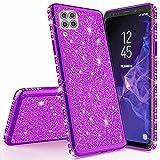 Miagon per Huawei P40 Lite Glitter Cover,Brillantini Diamond Bordo Placcato Copertina Ultra Slim Silicone Custodia Bumper Case Custodie