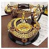 Xiix Caja de música de bebé Regalos Vintage Teléfono Adornos Music Box Muchachos niños de cumpleaños Creativo Retro de la música Año Nuevo Regalo Caja Regalo (Color : Black)