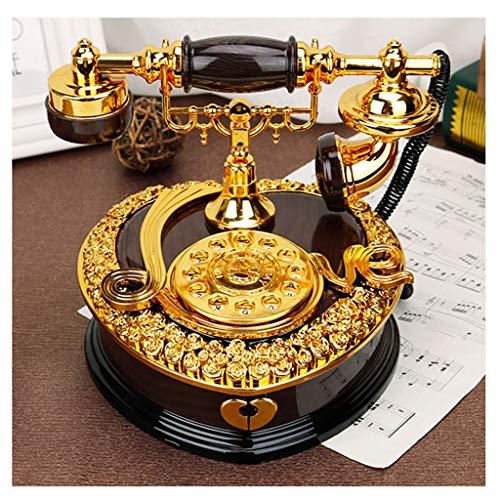 Kiki Carillon Telefono dell'Annata Ornamenti Music Box Bambini Maschi Regali di Compleanno Creativo Retro Music Box Regalo di Natale Regalo di Nuovo Anno Regalo di Compleanno (Color : Black)