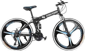 Adult Mountain Bike, Unisex Folding Outdoor Bicycle, 26in Folding Mountain Bike for Men and Women Outdoor Racing Cycling-【...