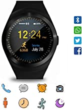 UnTech Y1S Touch Screen Bluetooth Smartwatch with Camera and Sim Card Support Compatible with All Smartphones (Black)