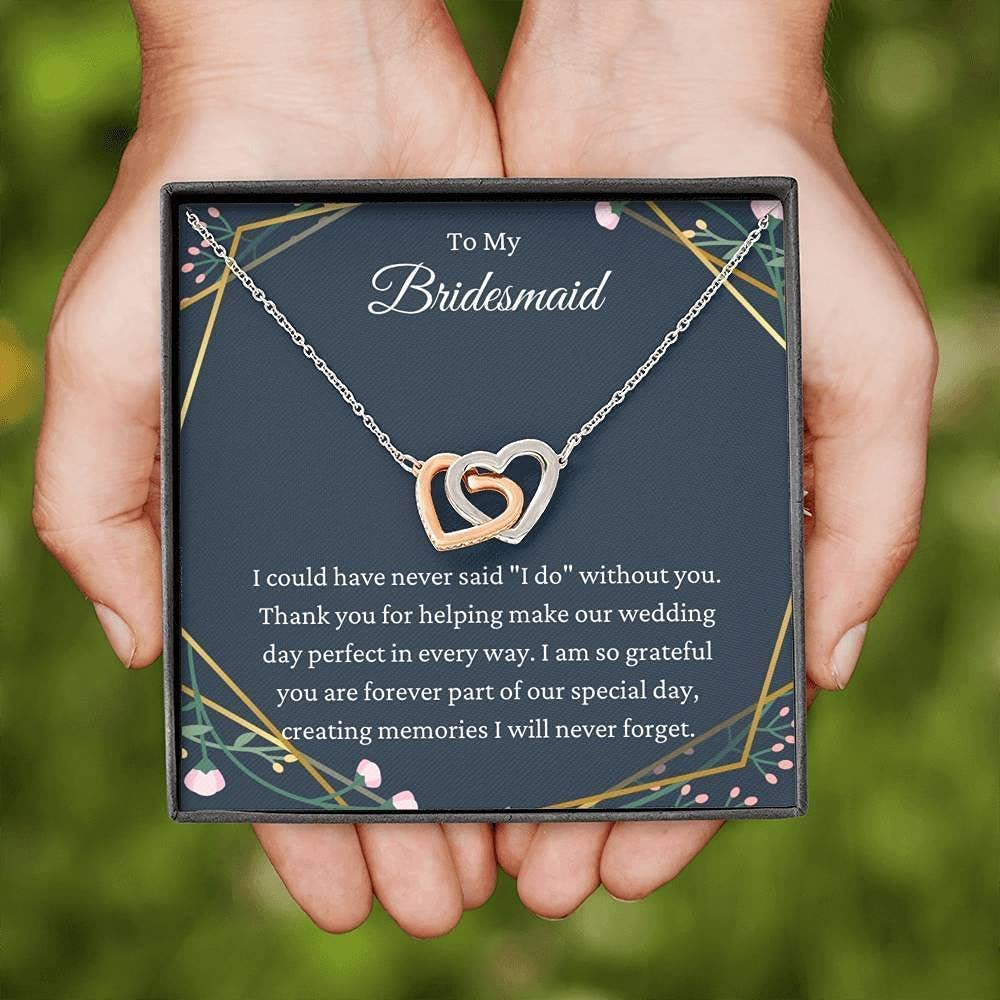 Limited price sale Interlocking Hearts Necklace Bridesmaid Gift For Bein Thank Seattle Mall You