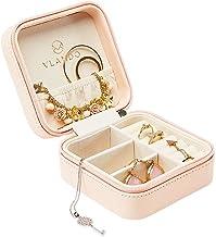 کیف چرمی وانادو چرمی مسافرتی جعبه جواهر فروشی نمایش کیف چرمی برای حلقه گوشواره گردنبند (صورتی)