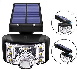 Solar Outdoor Wall Light Ip65 Waterproof Motion Sensor Security Light for Front Door Yard Garage Deck Porch Shed Walkway