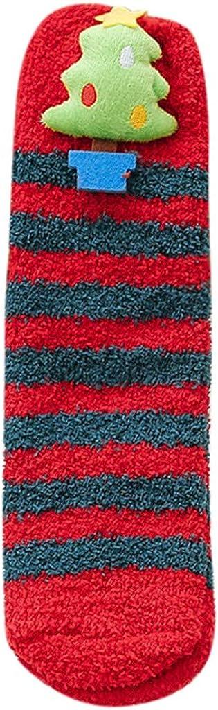 FIRERO Women Girl Bed Floor Socks Warm Winter Coral Fleece Sleeping Socks Home Christmas Stockings