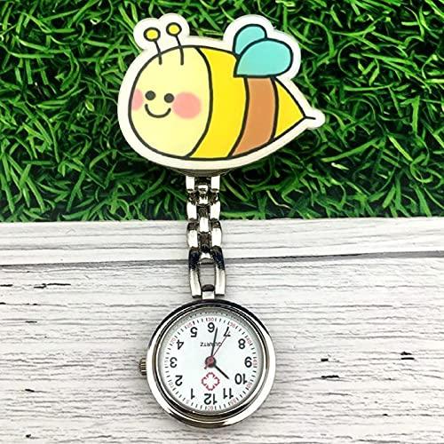 LLRR Cuarzo Colgando Reloj de Bolsillo,Mesa de Enfermera con Clip de Sonrisa Linda, Mesa de Bolsillo electrónica para Examen de estudiante-25,Reloj de Bolsillo para Enfermera