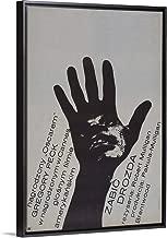 to Kill A Mockingbird - Vintage Movie Poster (Polish) Black Floating Frame Canvas Art, 14
