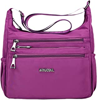 FITYLE Women Crossbody Shoulder Bag Water Resistant Lightweight Handbag with Pockets